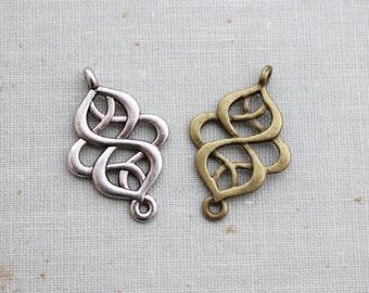 10 pcs Connector Links - Antique Bronze or Antique Silver