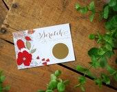 Scratch Off Card Bridal and Baby Shower Game - Garden Party