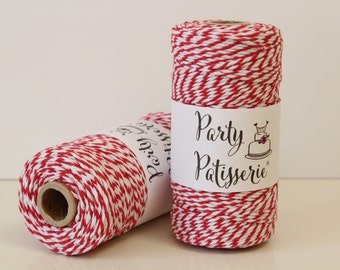 Red and White Twine
