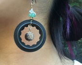 Bike and Shell Mismatched Punk earrings