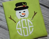 Made for Monogram Snowman Mini Embroidery Design Machine Embroidery INSTANT DOWNLOAD