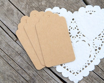 10 Etichette di carta kraft - 10 Brown Kraft Gift Tags