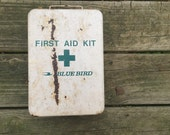 Bluebird bus first aid kit-metal