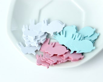 Easter Bunny Rabbit Die Cuts, Baby Shower, Table Accent, Bunny Confetti
