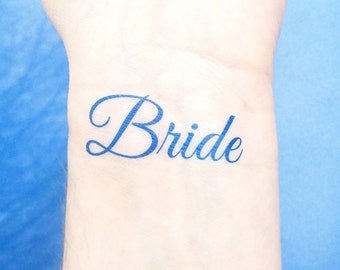 Something Blue - Temporary Tattoo - Bride Tattoo - Wedding Tattoo