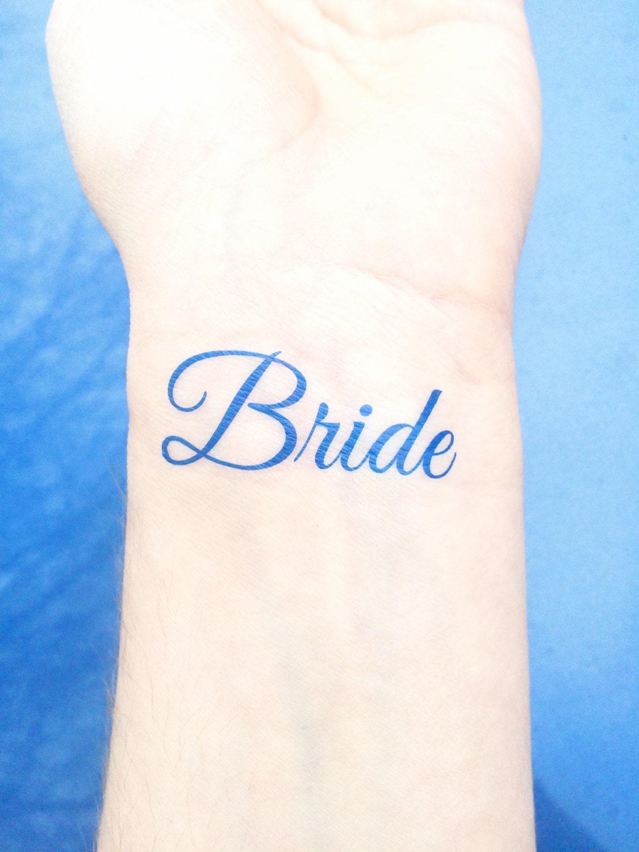 Something blue temporary tattoo bride tattoo wedding for Temporary tattoos wedding
