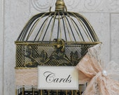 Small Wedding Card Holder / Card Box / Lace Wedding Birdcage Cardholder / Birdcage / Birdcage Cardholder / Shower Cardholder