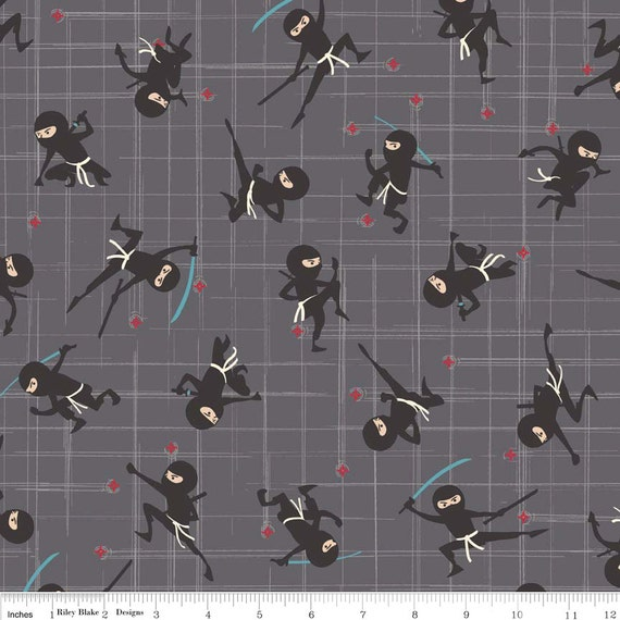 Ninja Laminated Cotton Fabric By The Yard Ninja By Laminates