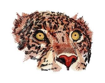 Jaguar Eyes Embroidered Flour Sack Hand/Dish Towel