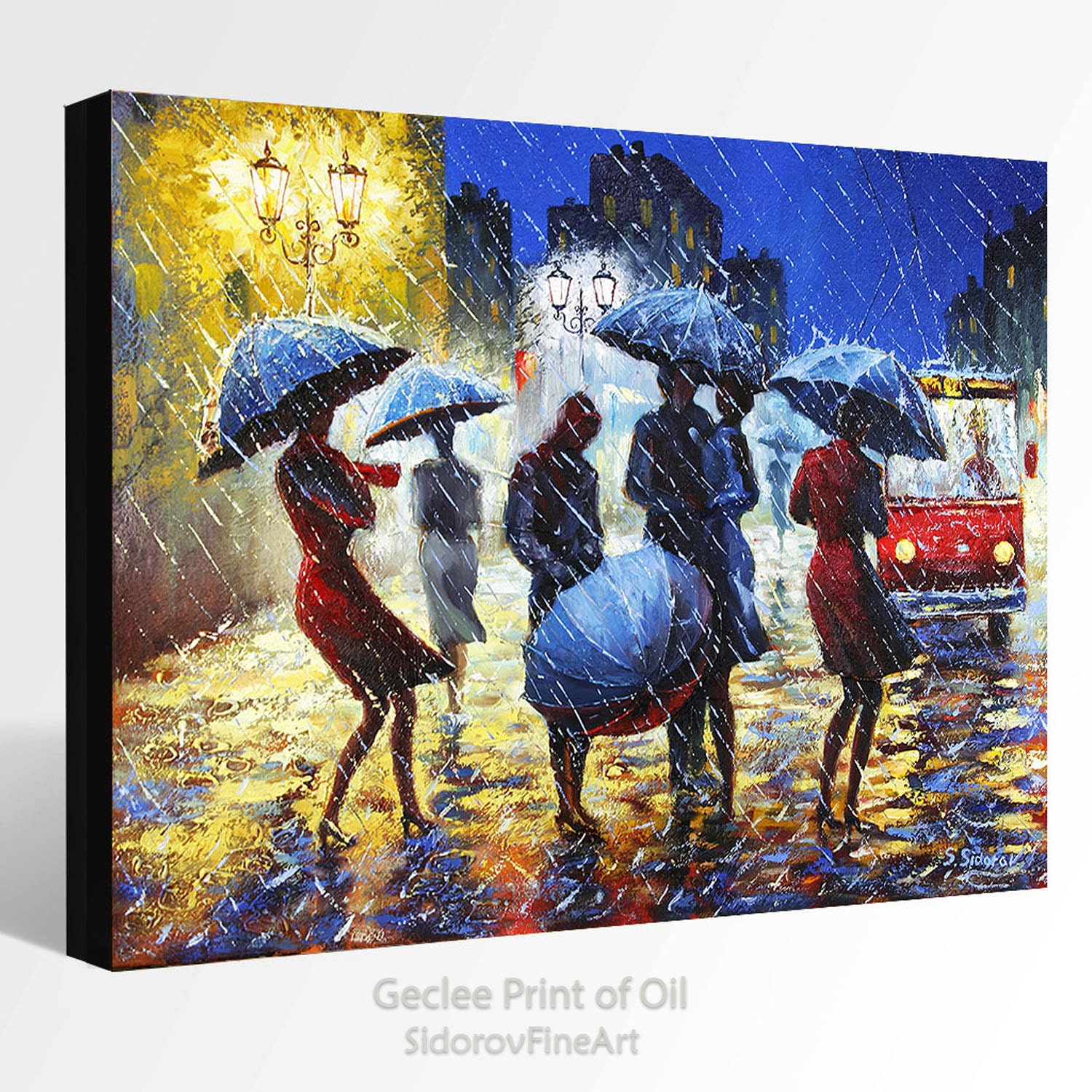oil painting giclee print canvas fine art print of original
