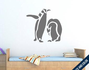 Penguin Duo Wall Decal - Animal - Vinyl Sticker
