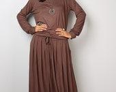 Modest Dress -  Long Sleeved Brown Maxi Dress : MODEST Collection No.1s