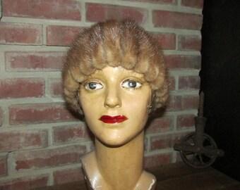 Vintage Light Brown Mink Hat Christine Original, Vintage Blond  Mink Hat, Vintage Millinery, Vintage Fur Hat, Blonde Mink Fur