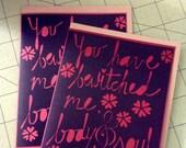 Mr. Darcy paper cut valentine