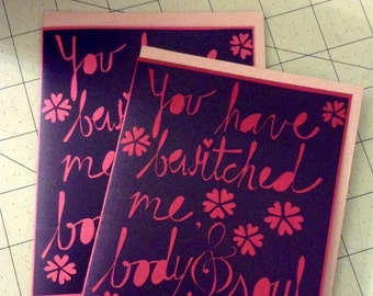 Mr. Darcy paper cut valentine