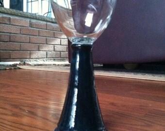 Midnight Blue Ceramic Goblet