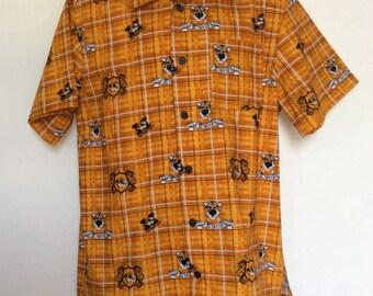 Men's Mizzou print collared shirt