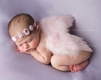 Heavenly Angelique Pink  Newborn Angel Wings, Baby Wings, Newborn Wings