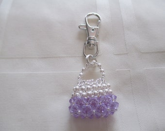 Purse Charm or Zipper Pull in Lilac