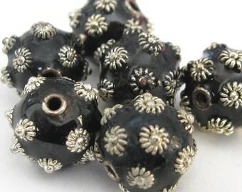 Black & Silvers Enamel E239