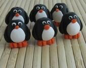 Little Penguin Bead - Polymer Clay Jewelry Making Supplies by Roz Petalz Beadz - 15 mm