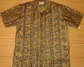 Mens Vintage 60s Hawaiian Casuals Tribal Tiki Hawaiian Shirt - XL - The Hana Shirt Co