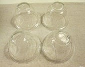 Glass cloche 4 small bell glass cloches replacement votive cups vintage votive cups shabby chic display cloche and plate display