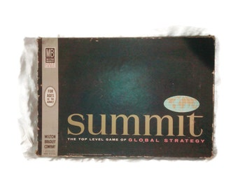 Milton Bradley Board Game , Summit , 1961 , Game of Global Strategy