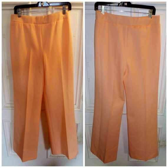Vintage 1960s Peach Polyester Pants - M