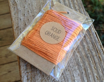 10 Yards • Timeless Twine Baker's  Twine / String • 4-Ply • 100% Cotton •  Gift Wrap • Craft •  Solid Pumpkin
