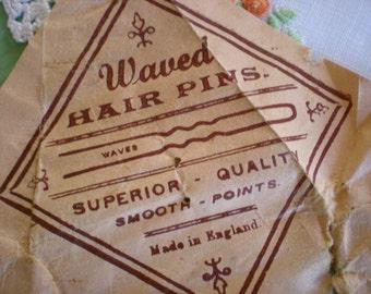 Waved hair pins, vintage 1940s.