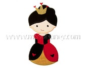 Queen of Hearts Applique Design