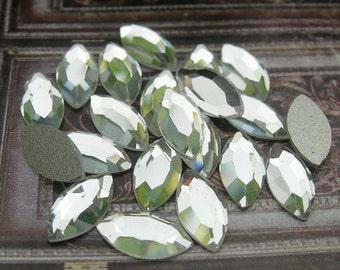 12pcs (4x8)mm swarovski  flat back crystal, Crystal