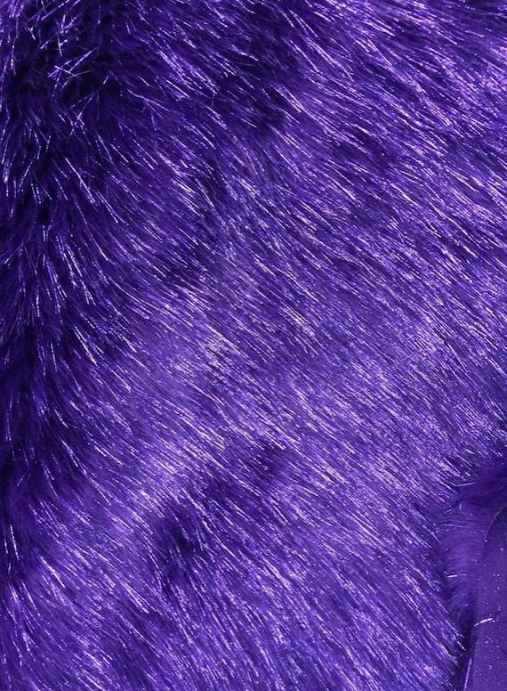 Fur faux fake purple sparkle faux fur fabric per yard 60 for Gitter fur steinkorbe