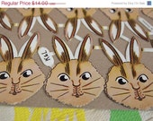 Reserved for Gail 20% Off Antique German Die Cut Rabbit Bunny Easter