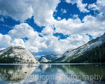 Landscape Photograph - Tenaya Lake - Sierra Mountains - Cloudy Sky