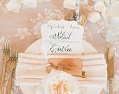 Elegant Menu Cards, Die Cut Wedding Menu, Menu Cards, Luxury