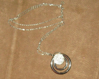 Beautiful UpCycled Circles Circular Unique Silver Chain Crystals One of a Kind OOAK One of A Kind