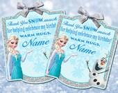 Frozen Labels-Frozen Tags-Frozen Thank You Tags Labels Goody bag labels-Goody bag tags-gift tags-labels-Printable Digital File