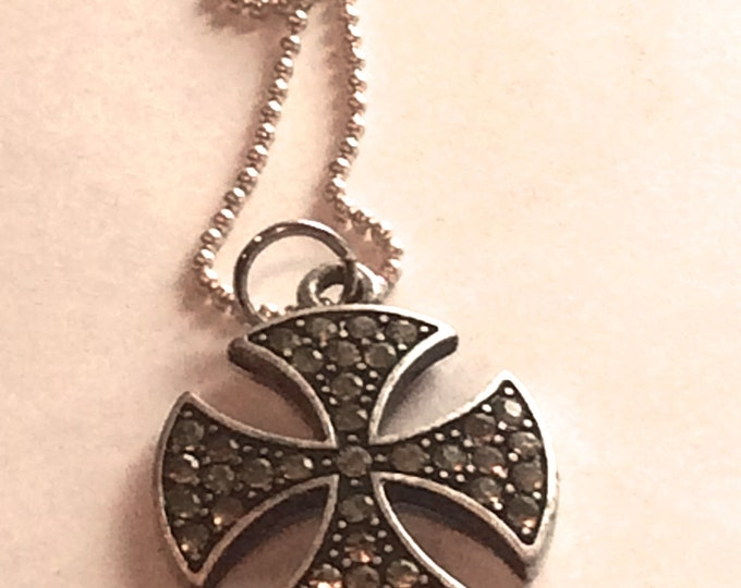 Jewelry Necklace, Metal Celtic Cross Necklace, Men's Jewelry