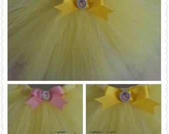Belle- Princess Boutique Tutu Disney inspired-  adult-running length or standard length