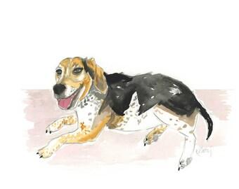 Custom Pet Watercolor Small