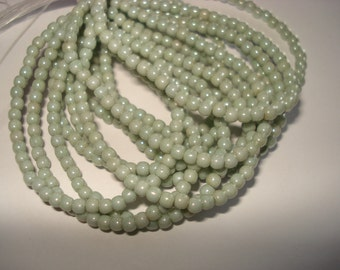 3mm Round Druk Green Laurel