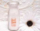 Half Pint Jones Dairy Milk Bottle Gilman Illinois