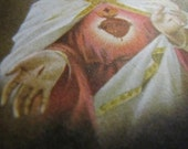 Vintage Sacred Heart of Jesus Prayer Card from the Order of the Most Holy Trinity