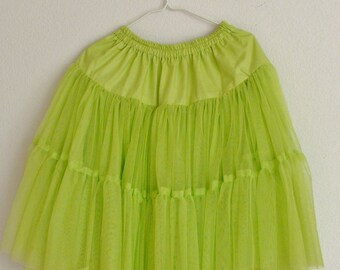 Green Petticoat Underskirt Big Volume