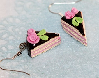 Cake Earrings -  Pastry Earrings - Kawaii Earrings
