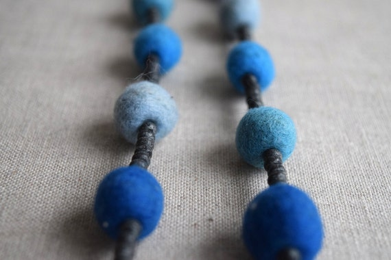 Wood and Felt Bead Necklace Kit