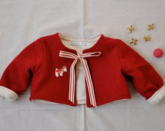 Baby Cropped Wool Blend Jacket