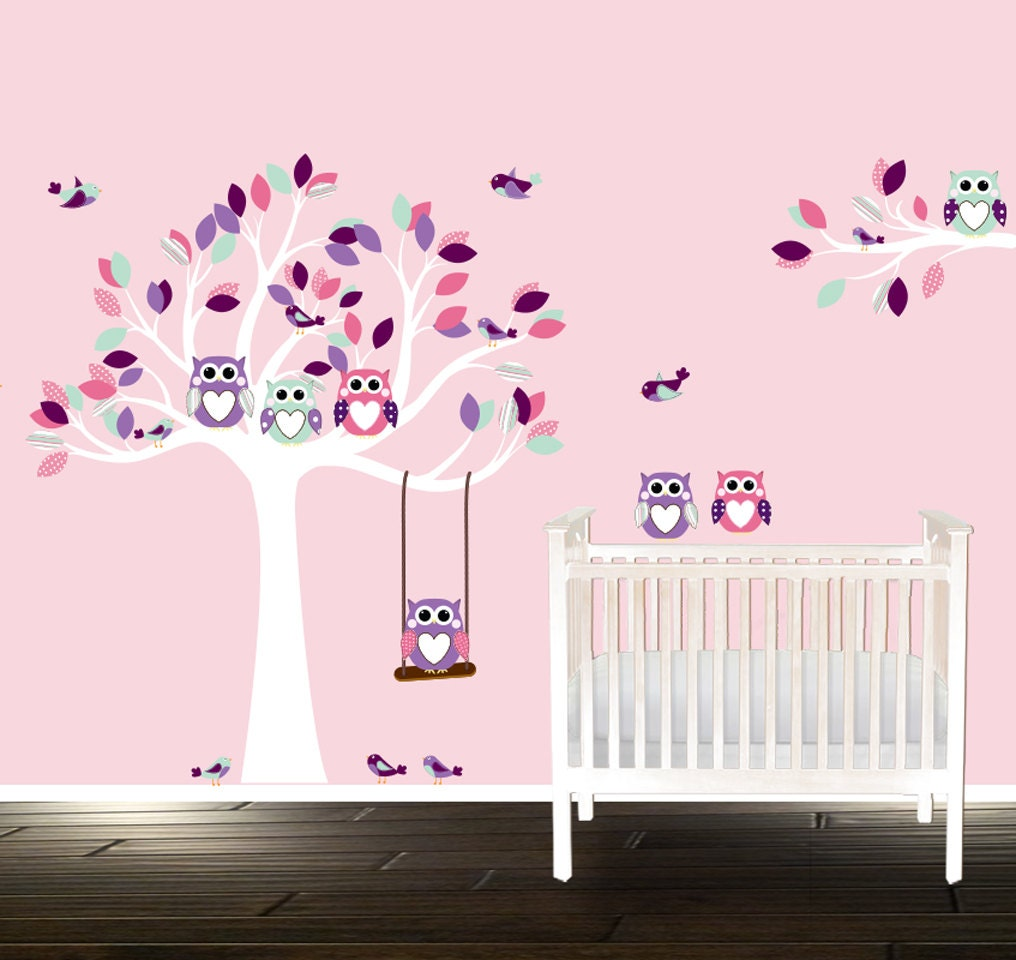 stunning stickers arbre blanc chambre bebe ideas. Black Bedroom Furniture Sets. Home Design Ideas